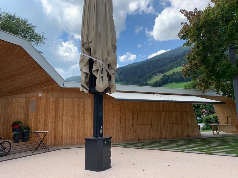 Markiese | Musikpavillon Bramberg