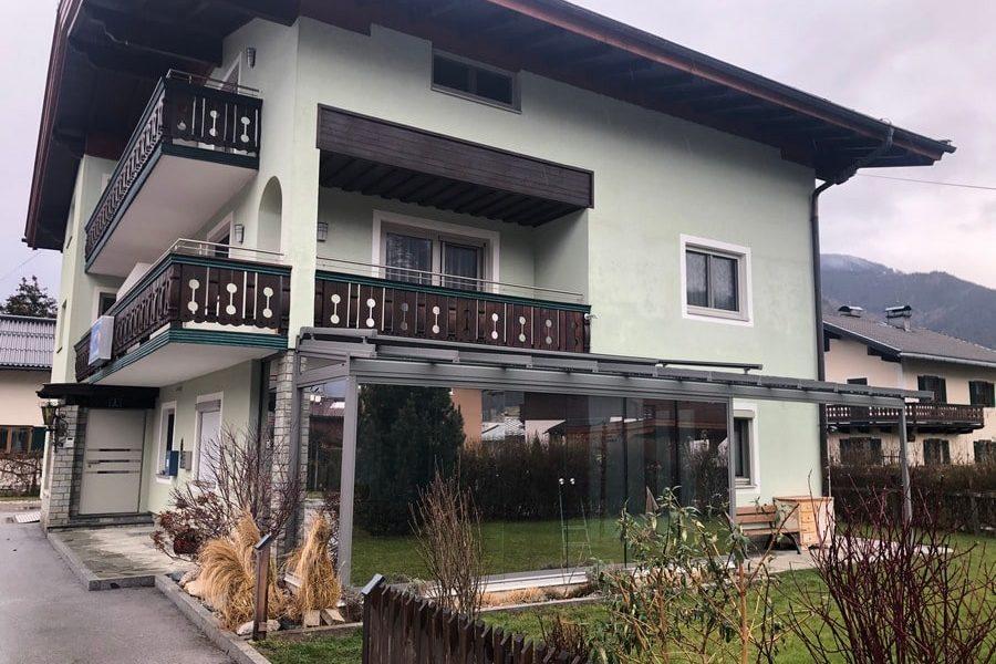 Terrassendach mit Glasschiebeelemente   Familie Gassner