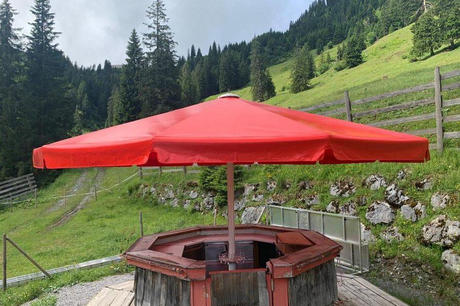 Schirmbespannung | Ehrenbachgraben