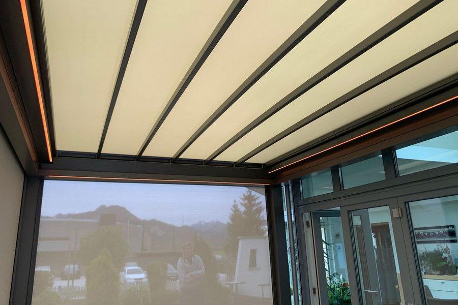 Terrassenüberdachnung mit Pergolamarkise | Ebbs
